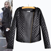 Women Casual Crew Neck Hot Sale women jackets 2014 Autumn Womens Fashion Cool Long Sleeve Coat Quilted Asymmetric Zip Jacket O-Neck Slim Casual Outerwear