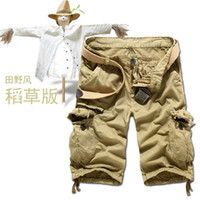Wholesale New Autumn summer Fashion for men Military Training camo cargos shorts Outdoor Camouflage cargo mens the short pants K35