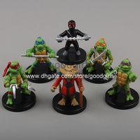 Finished Goods big ninja turtles - Anime Cartoon TMNT Teenage Mutant Ninja Turtles PVC Action Figure Toys Dolls cm set MVFG184