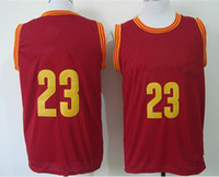 Wholesale cheap Basketball Jersey New Rv30 Sleeveness Basketball Shirts Red Yellow white NameMix Order