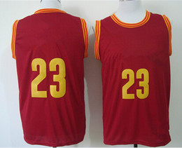 cheap 2015 Basketball Jersey #23 New Rv30 Sleeveness Basketball Shirts Red, Yellow ,white Free Shipping NameMix Order