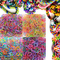 Beaded, Strands Fashion Bracelets 2014 Hot sale Loom Bands Refills by dots+glow in dark+tie dye+solid color for kids (1Lot=4bags, 600rubber bands each bag)