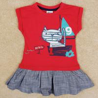 Wholesale Nova latest designer kids summer dresses for girls clothing animal cats embroidery dress oxford fabric sleeveless jumper sundress H5253