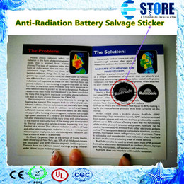 Wholesale 2014 new Anti Radiation Battery Salvage Sticker For Mobile Phone Laptop Hotsale RadiSafe M