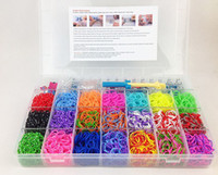 Beaded, Strands Unisex Fashion 4200pcs rubber loom band kit children DIY bracelet gift with glow in dark loom band