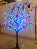 led cherry tree - LED Christmas Cherry Blossom Tree LED Bulbs m ft Height VAC Rainproof Outdoor Usage Drop Shipping
