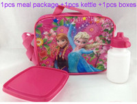 Backpacks backpack meals - 12 off In stock Snow princess upscale meal package kettle boxes Combination lunch boxes drop shipping on sale