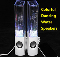 Cheap LED speaker Dancing Water Speaker Music Audio Player for S5 i9600 LED 2 in 1 USB Colorful Water for tablet PSP phone DHL FREE Ch