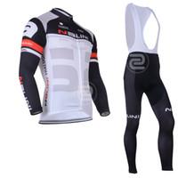 Wholesale NALINI Professional team Cycling Bike Long Sleeve cycling Jersey cycling and bib pants Suit SIZE S XL