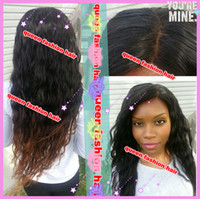 Brazilian Hair Black Wig,Half Wig New arrival !! fashion wavy brazilian human hair front lace wigs& full lace wig glueless ombre color #1b #4 two tone lace wig