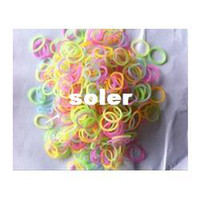 Fashion Bracelets 10cm 45-600-Piece Glow in the Dark Latex-Free Rubber Band loom bandsBracelet Loom Refill