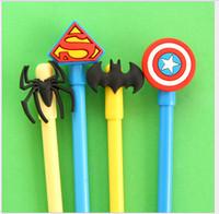 Wholesale 48pcs Avengers Heroes Union Series Iron Man mm black gel pen Creative stationery Black Ink