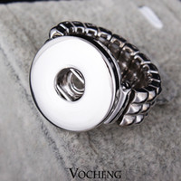 Wholesale Vocheng NOOSA Fashion Elastic Rope Style DIY Chunk Snap Button Ring DIY Noosa Jewelry for Free Style VH