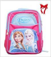 Wholesale Large size red free by dhl Cartoon baby girls Frozen bags zipper shoulder Frozen Pattern Elsa Anna Princess Cartoon Shoulders Backpack
