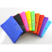 Wholesale New Style Silicone Case Colorful Cover For Allwinner Q88 Q8 A13 A23 Dual core Bluetooth Tablet PC inch MID Better Quality Cases
