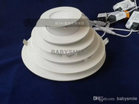 Wholesale 3W W W W W W LED Ceiling Lights Recessed Downlights V Led Slim Panel Lights Cool Warm White Retail Packing