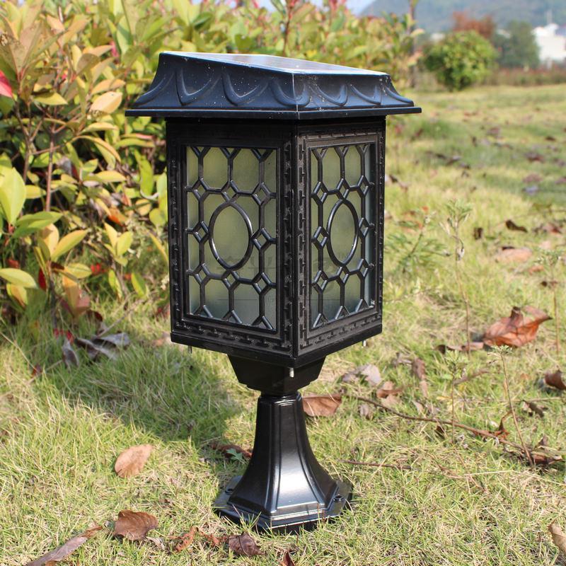 2017 modern led solar powered outdoor garden lawn lamp. Black Bedroom Furniture Sets. Home Design Ideas
