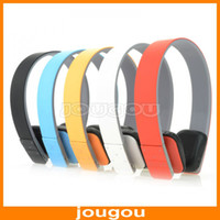 Wholesale Wireless On Ear Headphones Earphone Headset MP3 Player With FM Radio And Micro SD TF Card Slot Free DHL Shipping