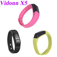 Yes OEM H10127GR 3 colors Novelty Vidonn X5 Bluetooth 4.0 IP67 Smart Wristband Sports & Sleep Tracking Fitness for iPhone 4S 5 5S 5C Samsung S4
