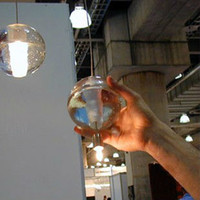 """Modern 12v LED Wholesale-MN-1 LIGHT CONTEMPORARY CLEAR CAST GLASS BALL """"METEOR SHOWER"""" CHANDELIER LIGHT WITH POLISHED CHROME CANOPY (BULBS INCLUDED)"""