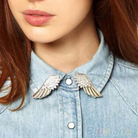 Wholesale Hot fashion punk style wing collar pin brooch brooch BroochPin Women