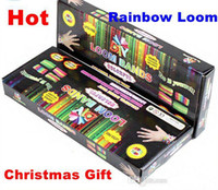 Wholesale Best promotion Price rainbow loom Kit Refill with DIY looming kits Hot christmas gift present Looms bands