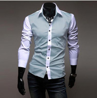 Wholesale New Mens Shirts Fashion Shirts Casual Slim Fit Stylish Dress Shirts C03