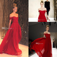 Reference Images Sweetheart Chiffon New Arrival 2014 Sexy Red Prom Dresses Chiffon Off Shoulder Floor Length Cheap A-Line Evening Dresses Gowns for Party Pageant Formal Dresses