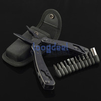 Wholesale High Quality Outdoor Multi function Tool Knife Pliers Survival Spanner Black