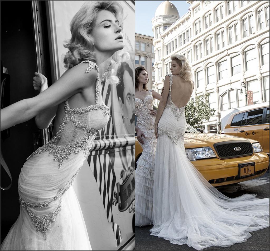 y New Crystal Beads Bling Pnina Tornai Wedding Dresses