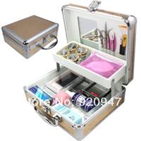 Wholesale 25 in Pro False Eye Lashes Eyelash Extension Glue Removal Kit Tools Set Case