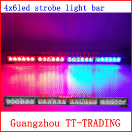 Wholesale Car Strobe Light LED Flash Warning light bar Police Firemen Auto Bumper Light high power bright