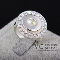 Band Rings fashion rings - Vocheng Small NOOSA mm Small Chunk Snap Button Fashion Ring DIY Noosa Jewelry Inlay Multiple Clear Crystal Vr
