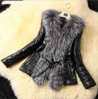 women winter leather jacket - Faux Leather Women s Coat New Autumn Winter Faux Fur Outerwear Fashion Ladies Faux Fur PU Leather Jacket