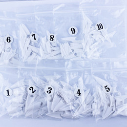 Wholesale South Korea imported French semi paste a piece of fake nail nail sticker DIY necessary pointed white piece
