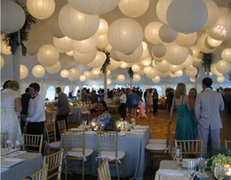 Wholesale White Mixed Chinese Paper Lanterns Wedding Birthday Party Floral Home Decoration
