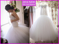 cover wedding - Hot Selling Princess Mermaid Wedding Dresses Lace Sweetheart Sleeveless Button Back Backless Real Image Bridal Gowns