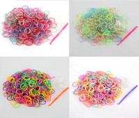 Bohemian loom bands - High Quality Rubber Fun Loom Band Kit Kids DIY Bracelet Silicone Looms Bands In Mix Colors Colors For Choose Kit Set Via EMS L28836