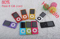 Wholesale 1 Screen Mp4 Player Music th With Video FM Radio E book Game Digital TFT Screen Free GB SD TF Card Crystal box Factory Direct Free UPS