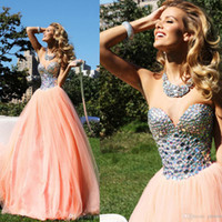 Reference Images Sweetheart Tulle 2014 Tarik Ediz Prom Dresses A Line Tulle Zipper Backless Crystal Party Dresses With Sweetheart Neckline Floor Length