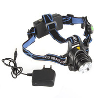 Wholesale SecurityIng CREE XML T6 Lumen LED Headlamp Headlight with Charger Zoom Zoomable Focus LEG_532