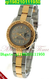 factory seller High quality low price - Master Ladies, Grey Dial - Yellow Gold & Steel on the Bracelet