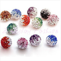 Wholesale 100pcs Gradient Colorful mm Crystal Shamballa Beads Pave Clay Dico Ball for shamballa Bracelet Necklace