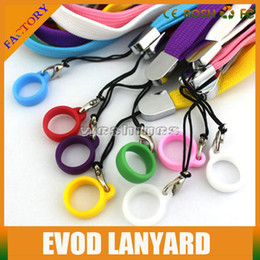 2015 New ego Lanyard Necklace String Neck Chain Soft Rubber silicone Ring For Electronic Cigarette Battery Evod Twist Battery cheap price