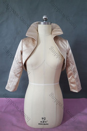 2014 New Style Real Picture Long Sleeves Satin High Neck Wedding Jacket Wedding Wrap DH7626
