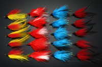 Wholesale 40Pcs Treble Flies Hooks Size Salmon And Sea Trout Fly Fishing Lures