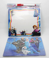 Wholesale 2014 New Hot Sale Europe Frozen Anna Elsa Children Cartoon Puzzle Environmental protection paper puzzle Drawing board puzzle Set E0474