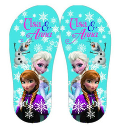 8%off!hot sale!Leisure!Latest styles!Children herringbone slippers!Beach shoes!high quality!FROZEN ANNA ELSA!DROP SHIPPING!3pairs 6pcs.LY