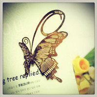 Wholesale Brand New Plants Fragrant Hollow Leaf Metal Bookmark Book Clip Retro Bookmark M1029