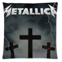 Wholesale Decorative square Throw Pillow case Cover Cushion Case X18 Twin Sides famous American metal rock band